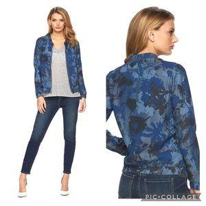 EUC Juicy Couture Floral Camo Bomber Lyocel Jacket